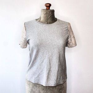 🎀3/$30 A New Day Grey Sequin Sleeve Blouse